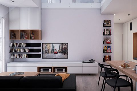 Wizualizacje wnętrz apartamentu naKrzykach